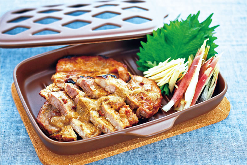 豚肉の山椒味噌グリル