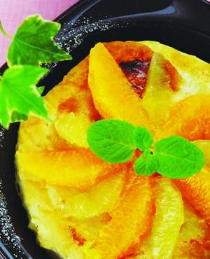 オレンジとレモンのパイ