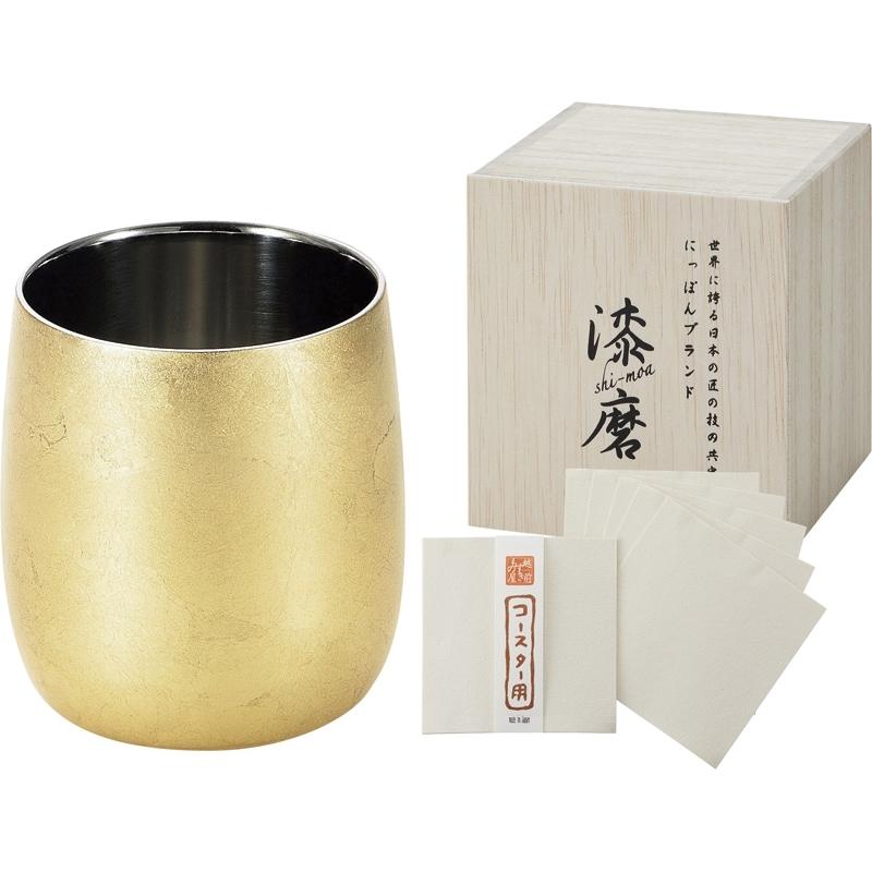 漆磨 二重ダルマカップ(木箱入)