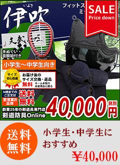 「伊吹」フィットステッチ5mm織刺剣道防具セット