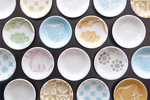 KIRA KARACHO(雲母唐長)の豆皿