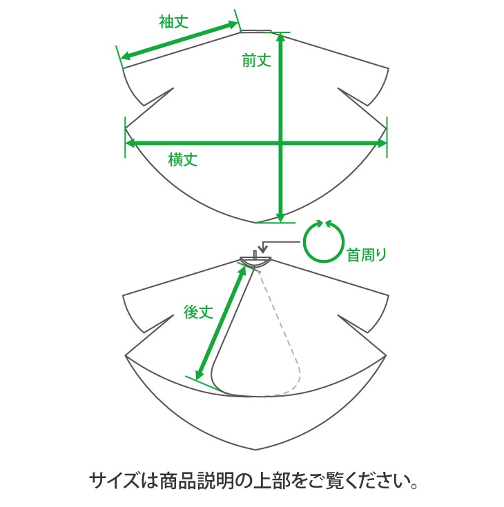 クロスのサイズ説明。