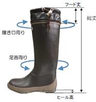 長靴・レインブーツサイズ