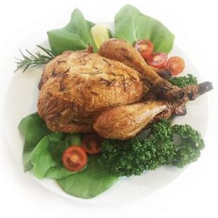 丸ごと1羽のひな鶏ローストチキン(約1.2kg前後)