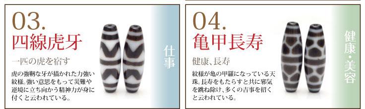 03.仕事運 四線虎牙、04.健康運 亀甲長寿