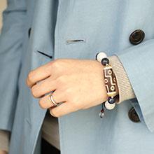 Blueブレス  選べる老玉髄天珠ブレスレット