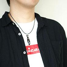 セミオーダーネックレス -Simple leather necklace-