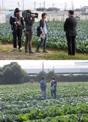 関西テレビ「スーパーニュースアンカー」の撮影風景