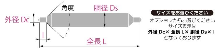 センタードリルサイズ