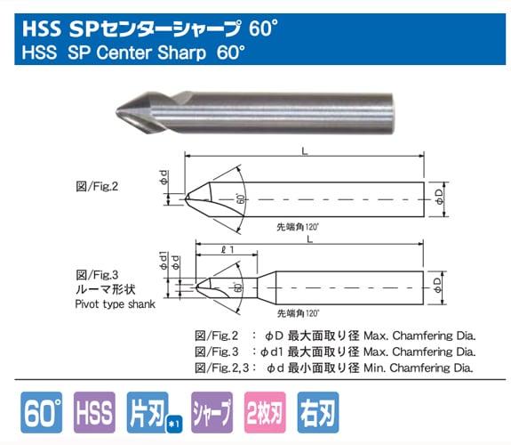 HSS SP センターシャープ 60°