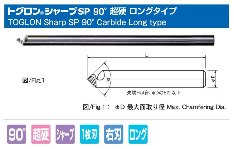 トグロンシャープSP60°超硬ロング
