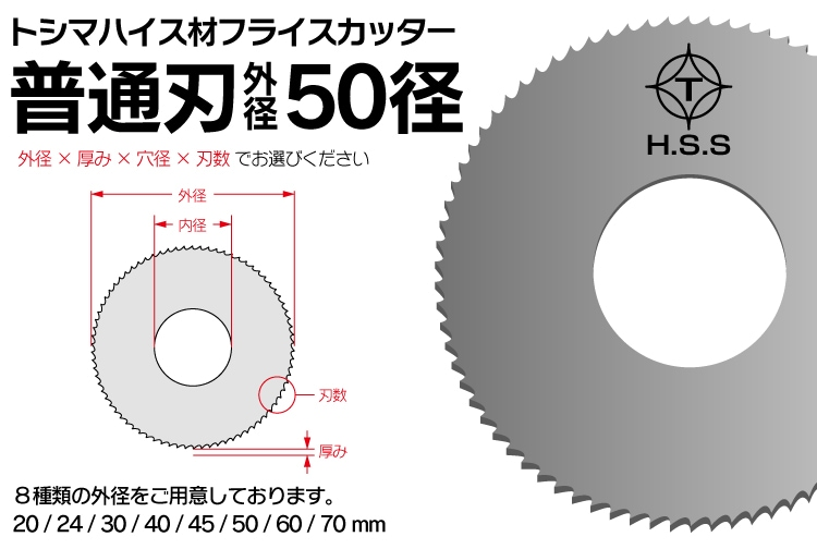 トシマハイス材フライスカッター50径