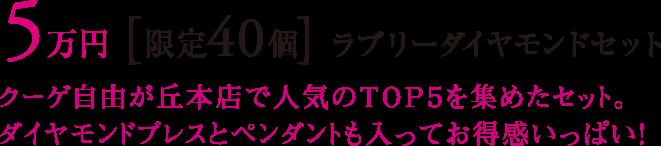 5万円 [限定40個] ラブリーダイヤモンドセット