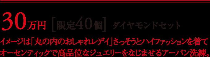 30万円 [限定40個] ダイヤモンドセット