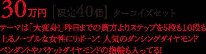 30万円 [限定40個] ターコイズセット