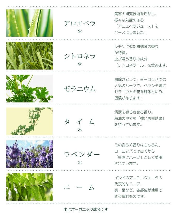 配合植物成分・オーガニック成分