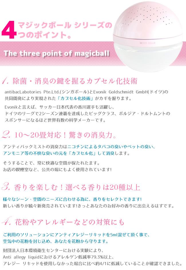 マジックボールシリーズの4つのポイント