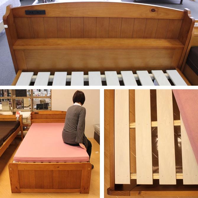 木製すのこベッドで快適な睡眠タイムを