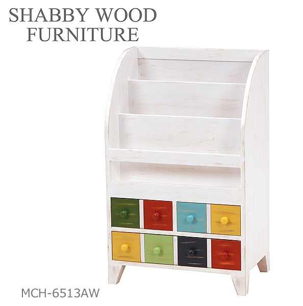 萩原スリーアイ SHABBY WOOD FURNITURE MCH-6513AW
