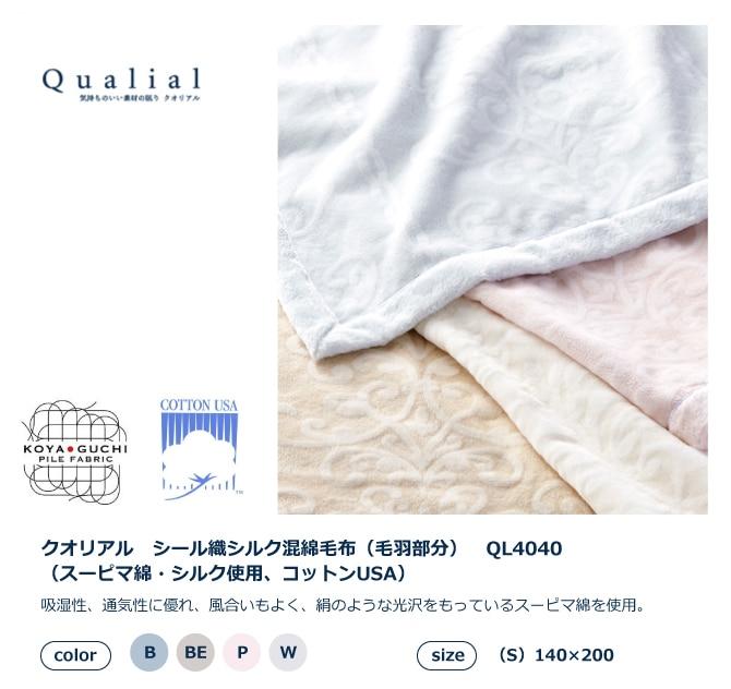 西川の吸湿性、通気性に優れ、風合いもよく、絹のような光沢をもっているスーピマ綿を使用。