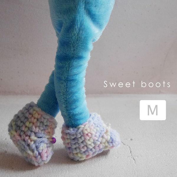 手編みスウィートブーツ