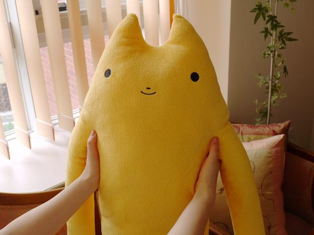 ふもも 黄 LLサイズ抱き枕