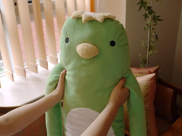 かぱ 薄緑 LLサイズ抱き枕