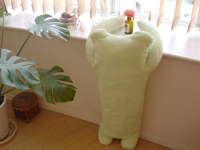 けろーにょ 薄緑 LLサイズ抱き枕
