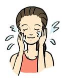 洗顔方法1・糖化着目桜の花びら石鹸
