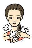 洗顔方法2・糖化着目桜の花びら石鹸