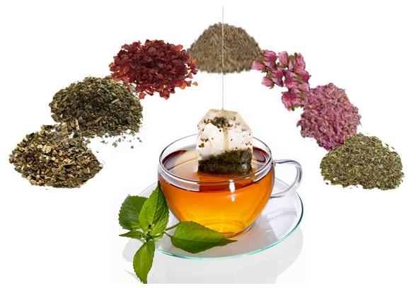 ドクダミ茶、甜茶、柿の葉茶、グアバ茶、桜の花、紫菊、ローズヒップ