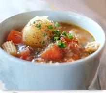 野菜スープに赤生姜パウダー