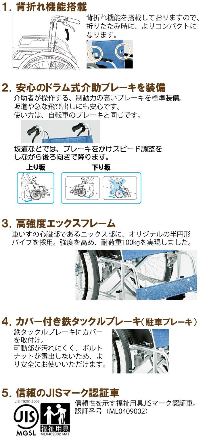 自走用車いす ECO-201Bの機能説明