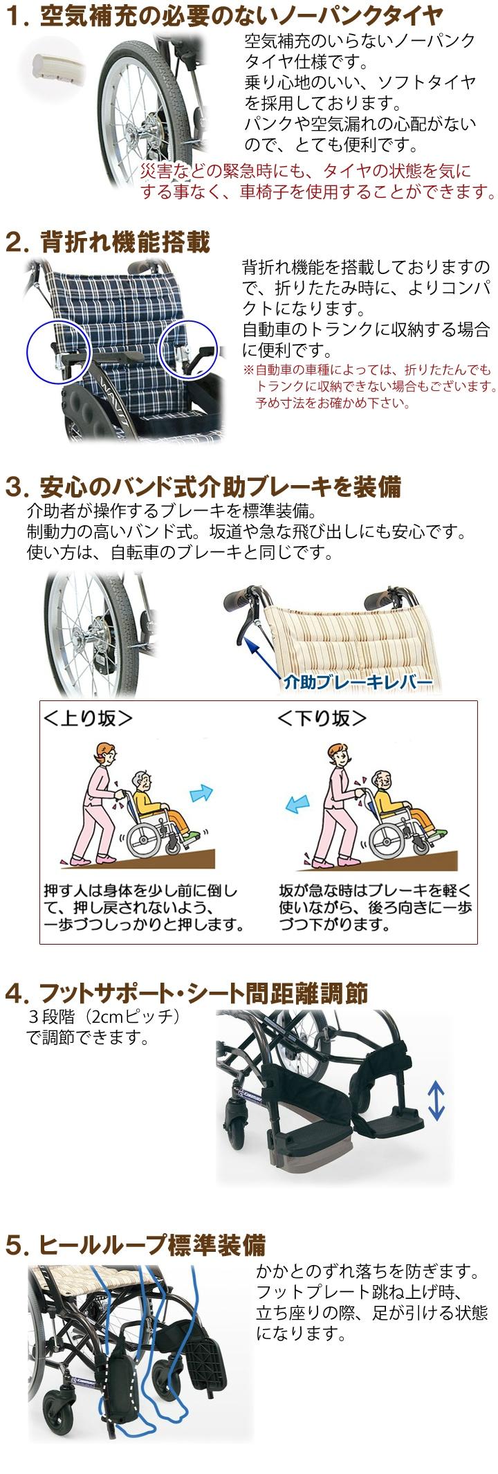 車いすの機能説明