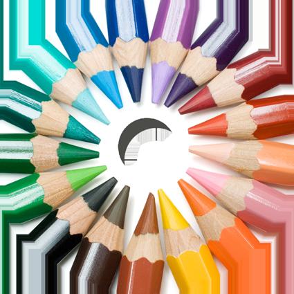 色鉛筆1 車椅子用スポークカバー