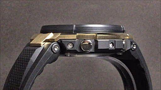 カシオGショックGスチール黒金 電波ソーラー腕時計 CASIO G-SHOCK G-STEEL GST-W300G-1A9JF
