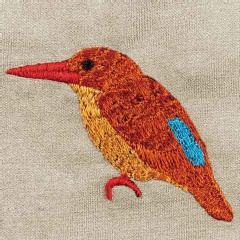 日本野鳥の会 オリジナルキャップ アカショウビン(サンド) 刺しゅう