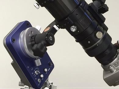 55FL対物レンズとフローライト原石の画像