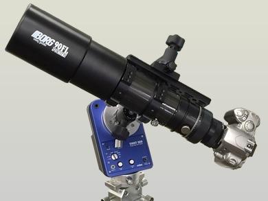 付属品一式の画像。55FL対物レンズ[2555]、M57/60延長筒[7604]、レデューサー0.8×DGQ[7880]、M57ヘリコイドDXII[7761]、カメラマウントホルダーM[7000]