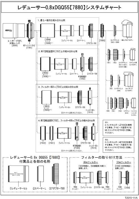 レデューサー0.8×DGQ55[7880]のシステムチャート