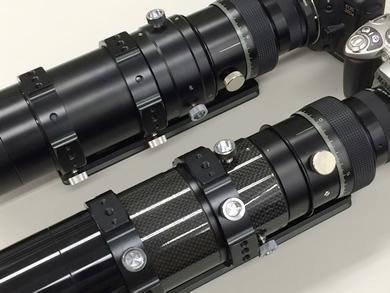 6258]とズイコー200mmF4望遠レンズの大きさを比較した画像