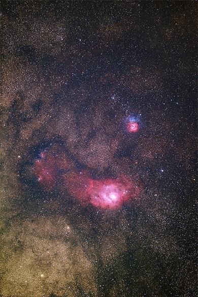 オリオン座の大星雲