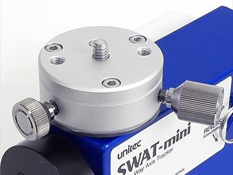 SWAT-miniの商品画像。粗動回転機構付きのターンテーブルを標準装備しています。