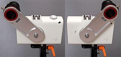 不用意に大きく回転した場合にPOLE MASTER本体が三脚などに 衝突するのを防止するため、回転角度は制限されます