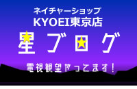 ネイチャーショップKYOEI 東京店 星ブログ