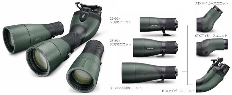 スワロフスキー ATX 25-60×65セット (65mm対物レンズユニット+45度アングルアイピースユニット)