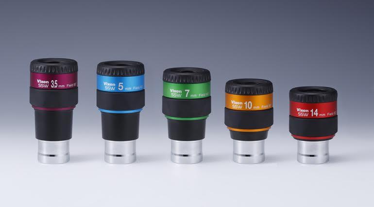 ビクセン SSWシリーズアイピース、3.5�、5�、7�、10�、14mm