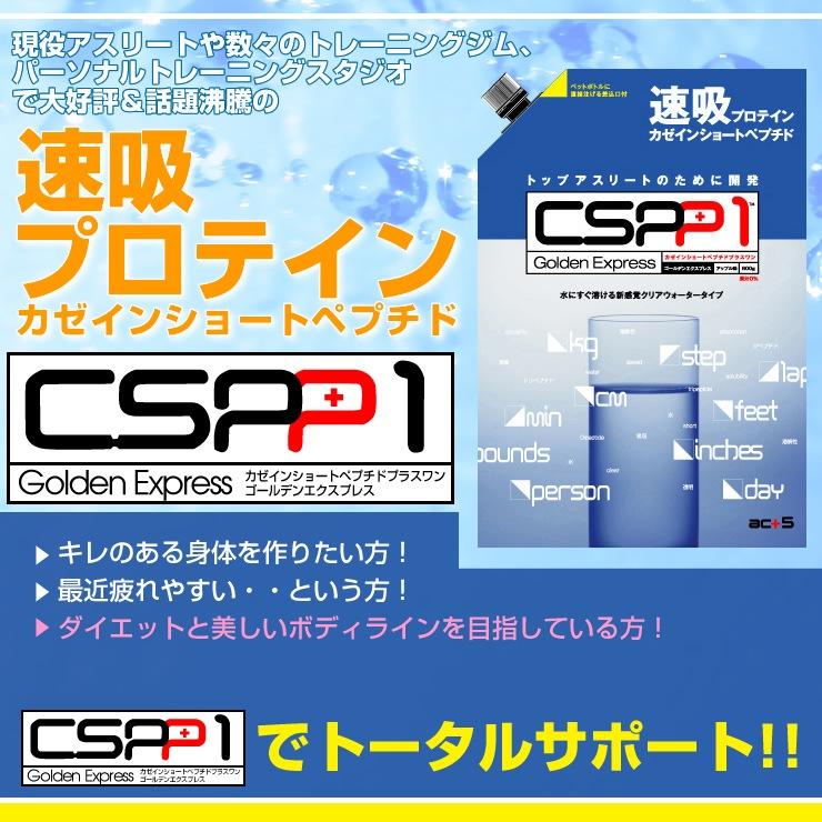 驚異の新感覚プロテイン!!【CSPP1-カゼインショートペプチド プラスワン ゴールデンエクスプレス-】
