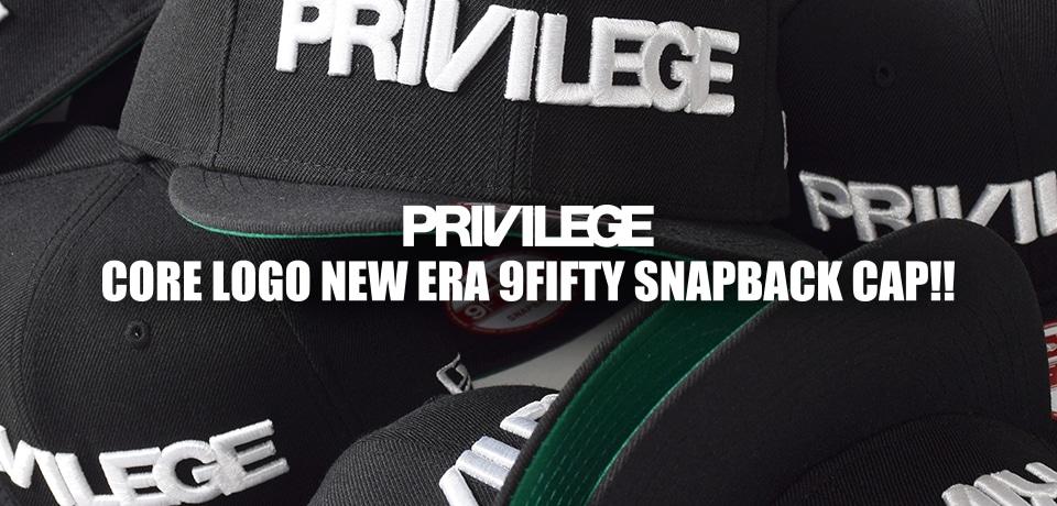 PRIVILEGE CORE LOGO NEW ERA 9FIFTY SNAPBACK CAP