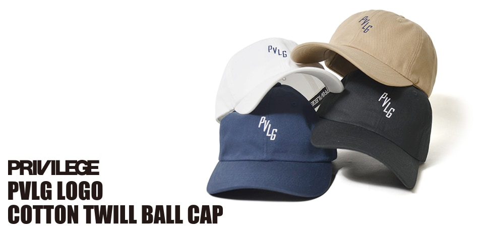 PRIVILEGE PVLG LOGO COTTON TWILL BALL CAP